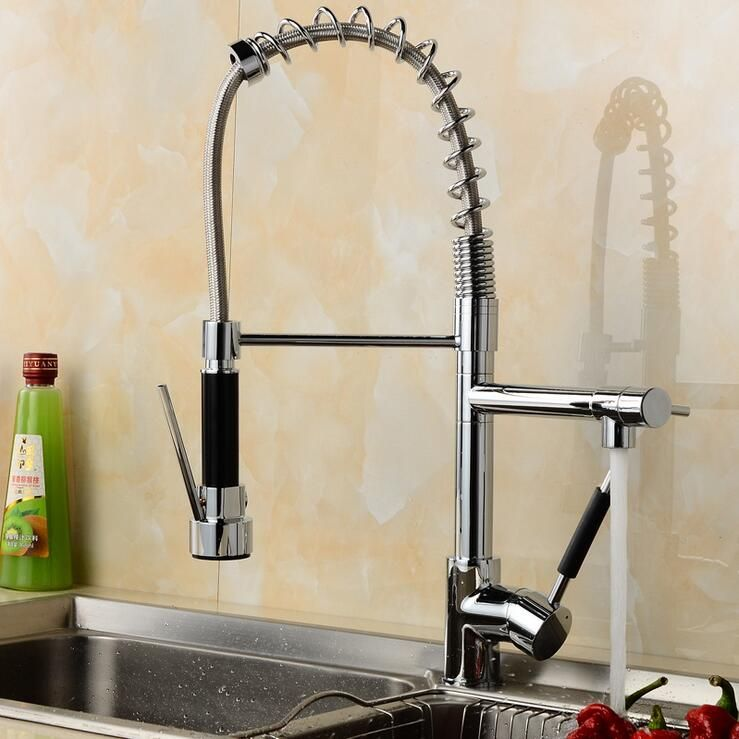 Kitchen spring faucet mixer hot and cold, Copper kitchen sink basin ...
