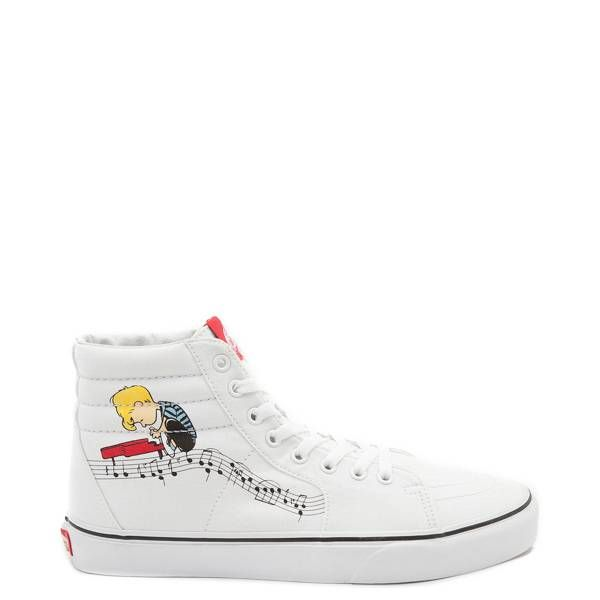 Check out Peanuts edition Vans Sk8 Hi Skate Shoes at Journeys and Get FREE  Shipping on orders  39.98! Featuring canvas uppers with Pig-Pen dust cloud  ... a53f97b01