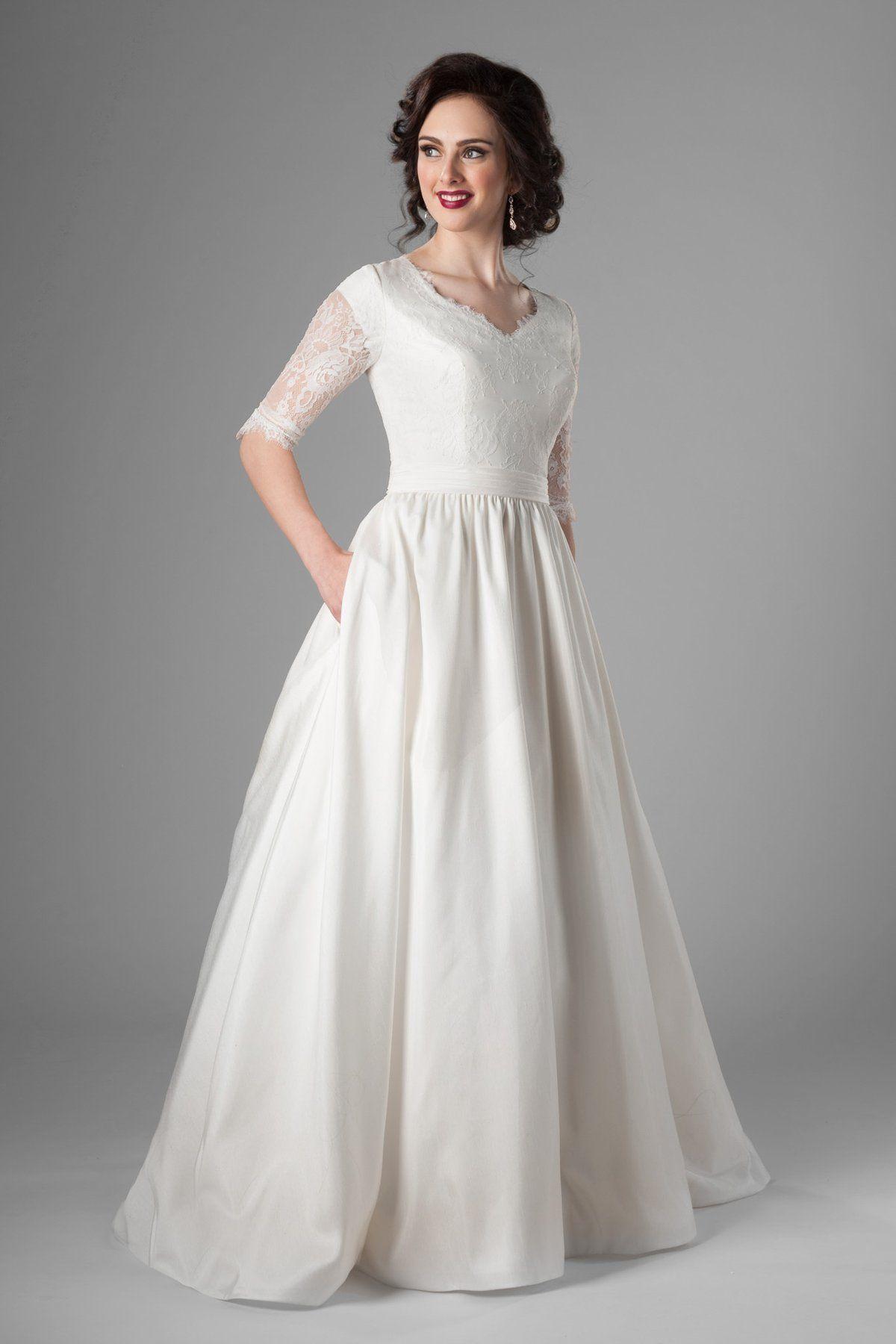 Phillipa Casual wedding gowns, Modest wedding dresses