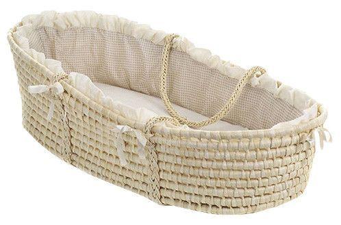 Badger Basket $37 ~~Moses Basket with Gingham Bedding at Wayfair