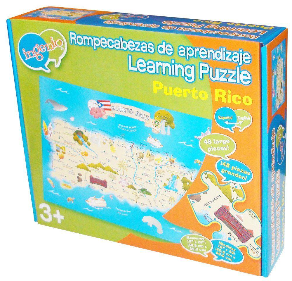 Puerto Rico Map Puzzle
