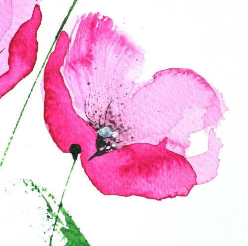 Simple And Beautiful Use Of Watercolour Peinture Fleurs Arbres