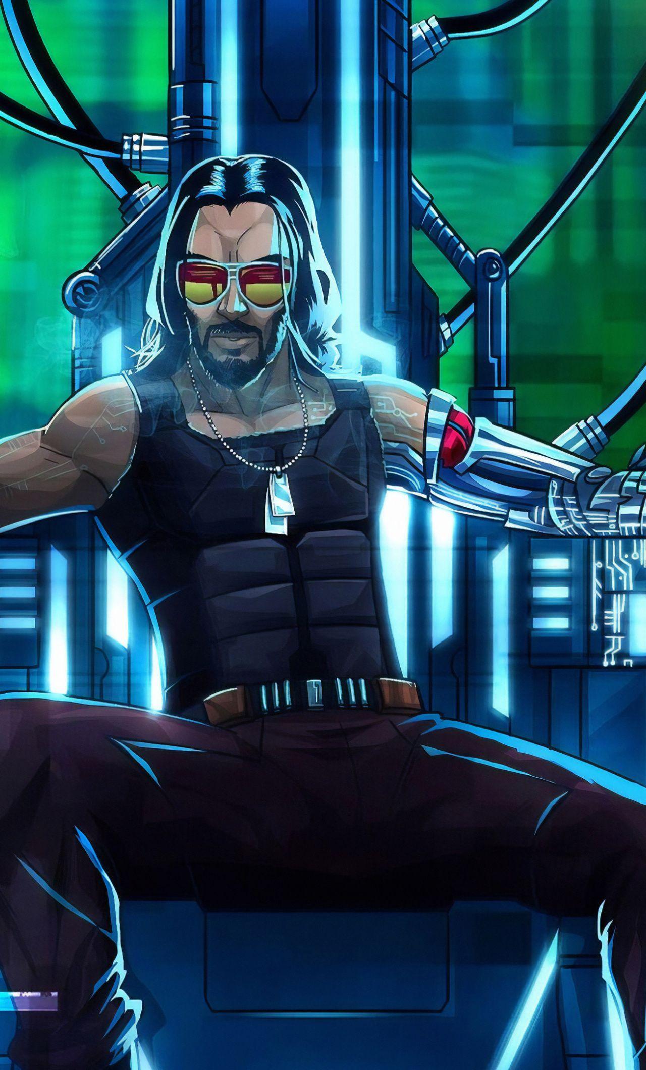 1280x2120 Cyberpunk 2077, Keanu Reeves, video game, 2019