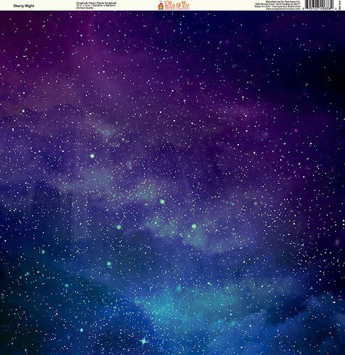 Ella and Viv Paper Company - Galaxy Collection - 12 x 12 Paper - Starry Night