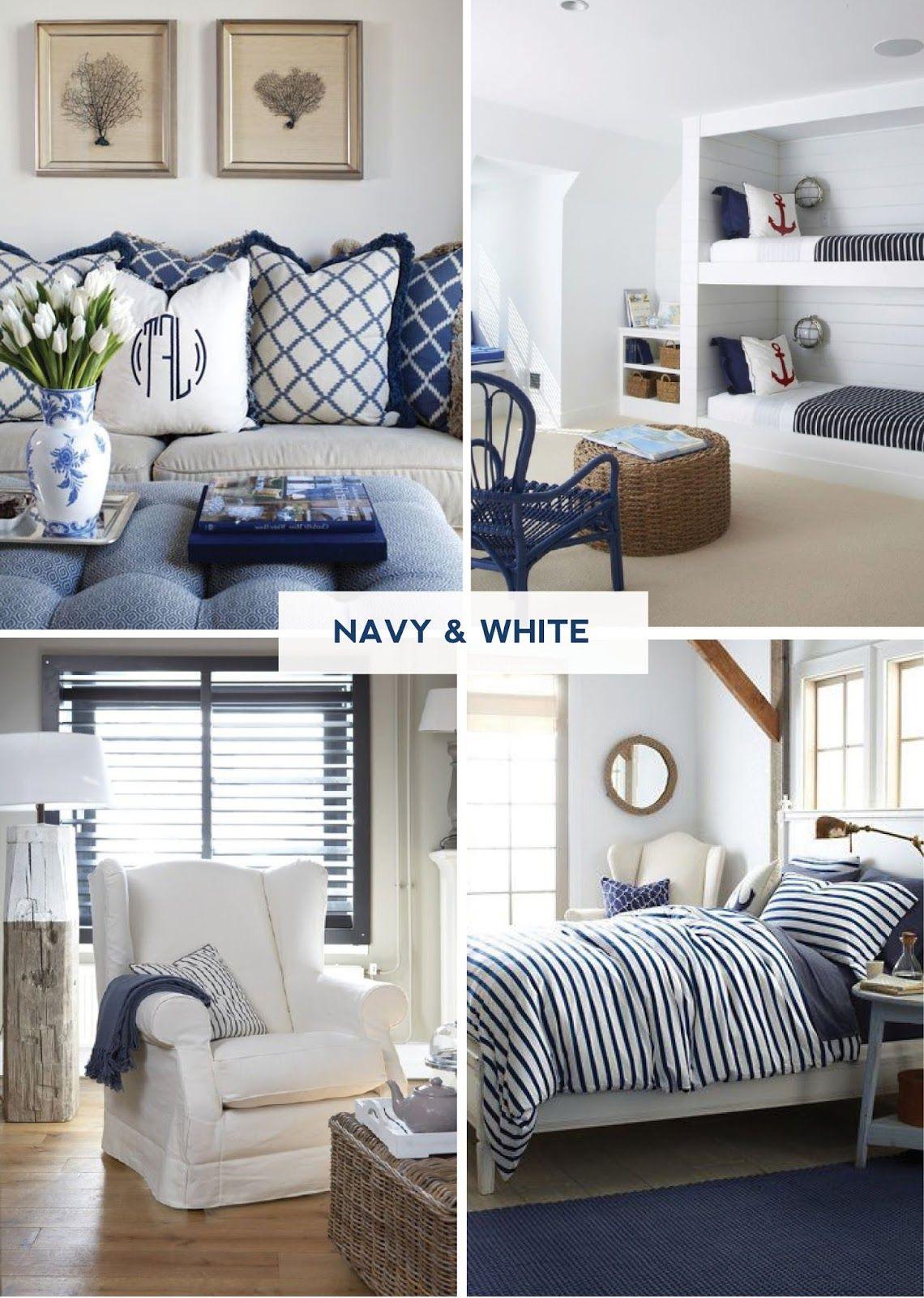 Coastal Style Stylish In Navy & White