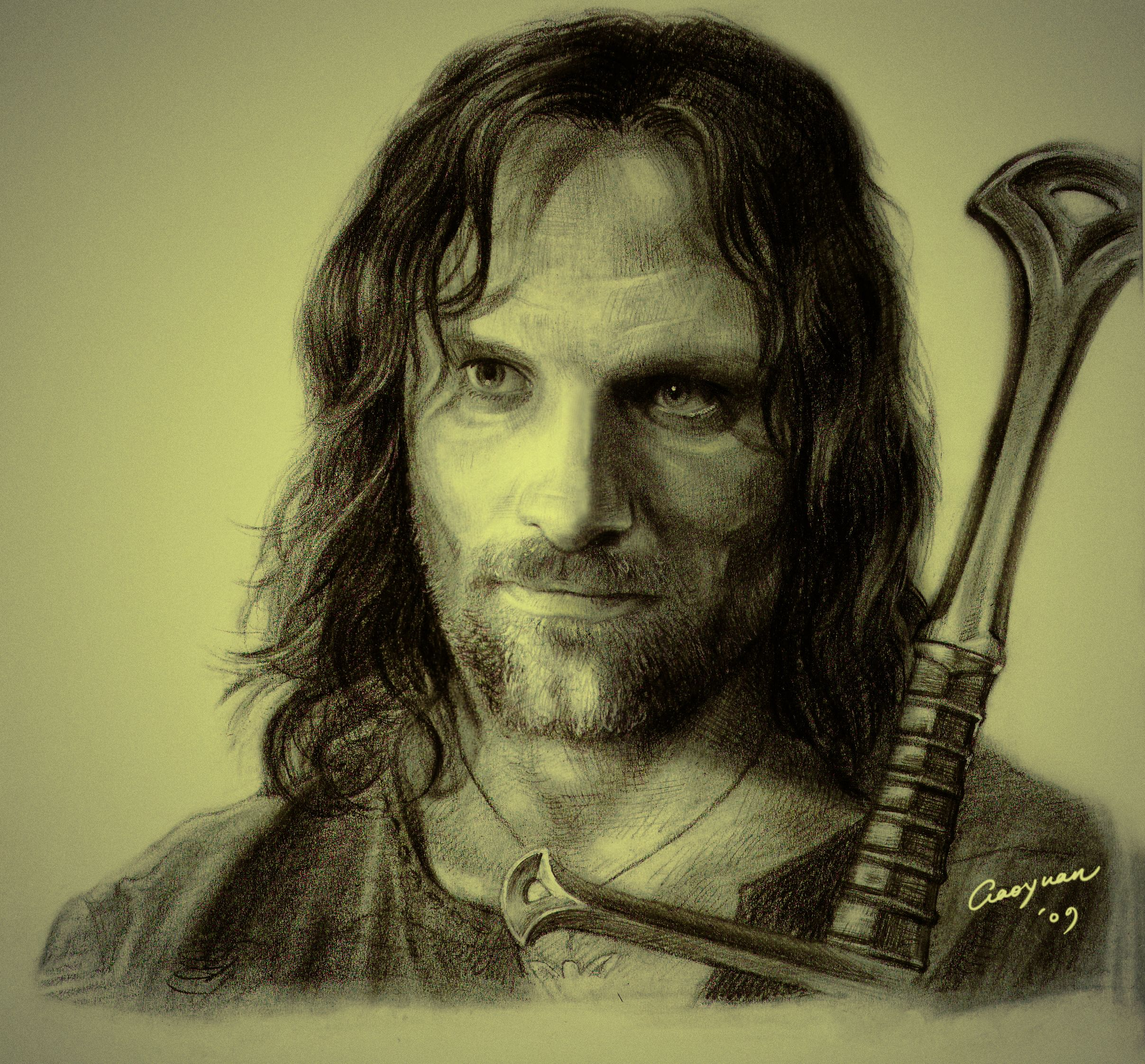 Aragorn. If I could draw like this I wouldn\'t need to look for ...