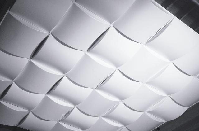 5 playful wavy 3d panels that make drop ceilings fun - Modern drop ceiling tiles ...