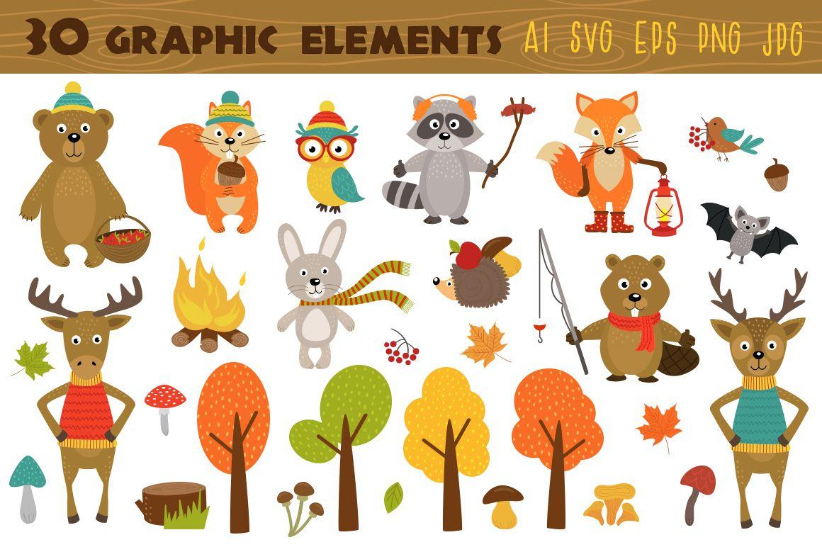Woodland Animals Svg Autumn Animal Print Forest Animals Svg Etsy Autumn Animals Woodland Animals Forest Animals