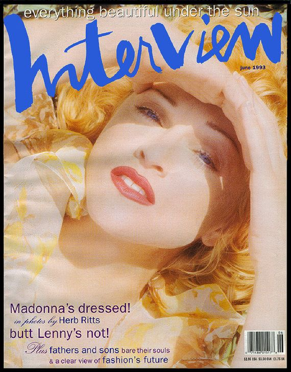 madonna front cover 1993 june issue interview magazine andy warhol