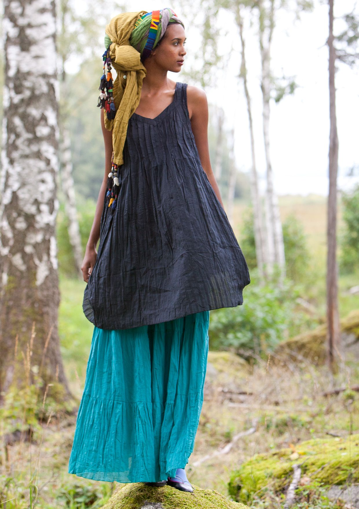 BoHo Gently crinkled ecocotton skirt, it's the