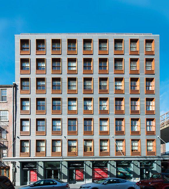 Apartment Building Front handel architects, 2121 webster street condos, san francisco, ca