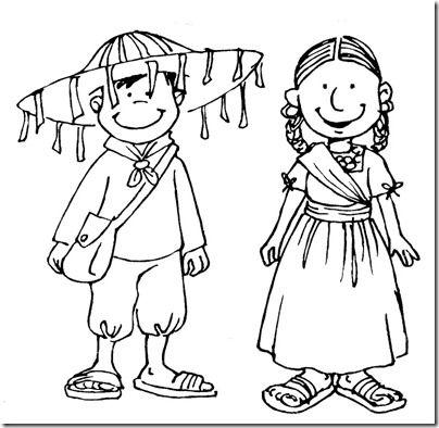 Colorear dibujos niños con trajes mexicanos | pintar y jugar ...