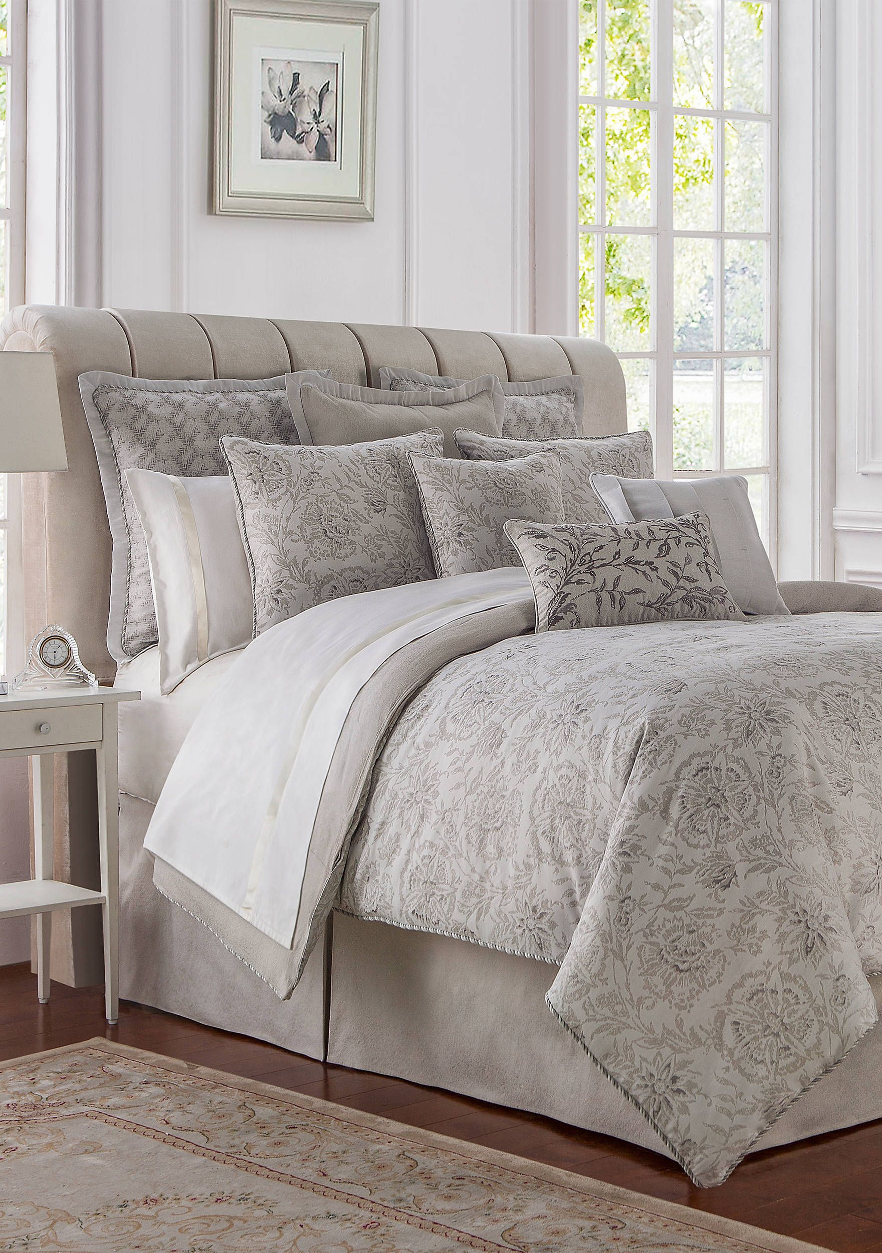 p gold comforter lynath set linens by waterford bedding