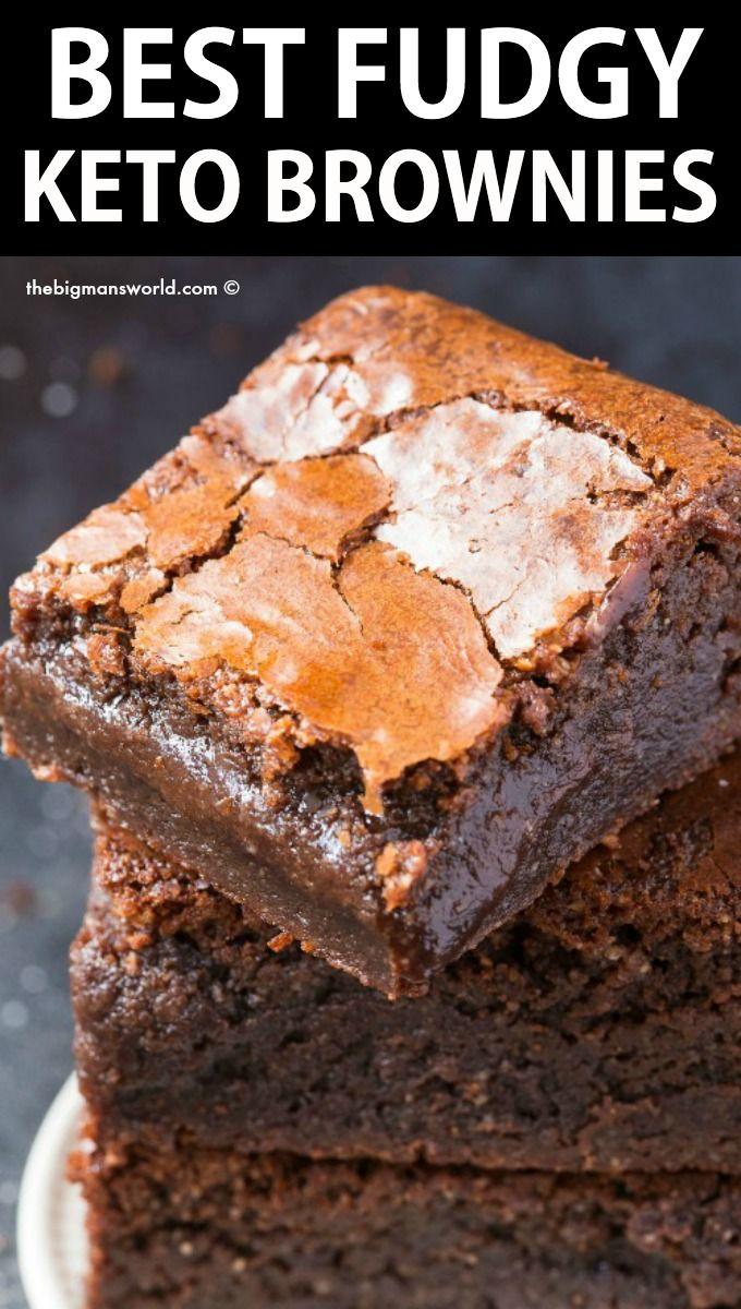 BEST Fudgy Keto Brownies- No eggs and No sugar!