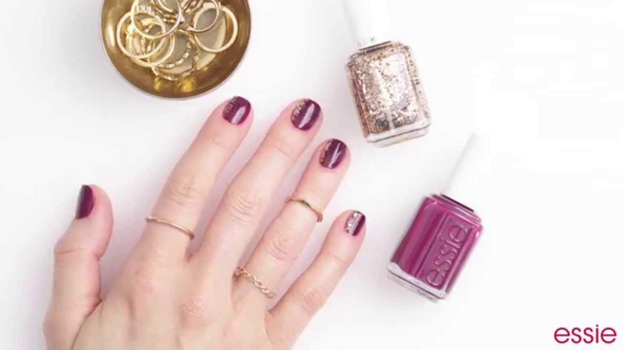 essie nail art tutorial: 3 luxeffects looks | Nailed It | Pinterest ...