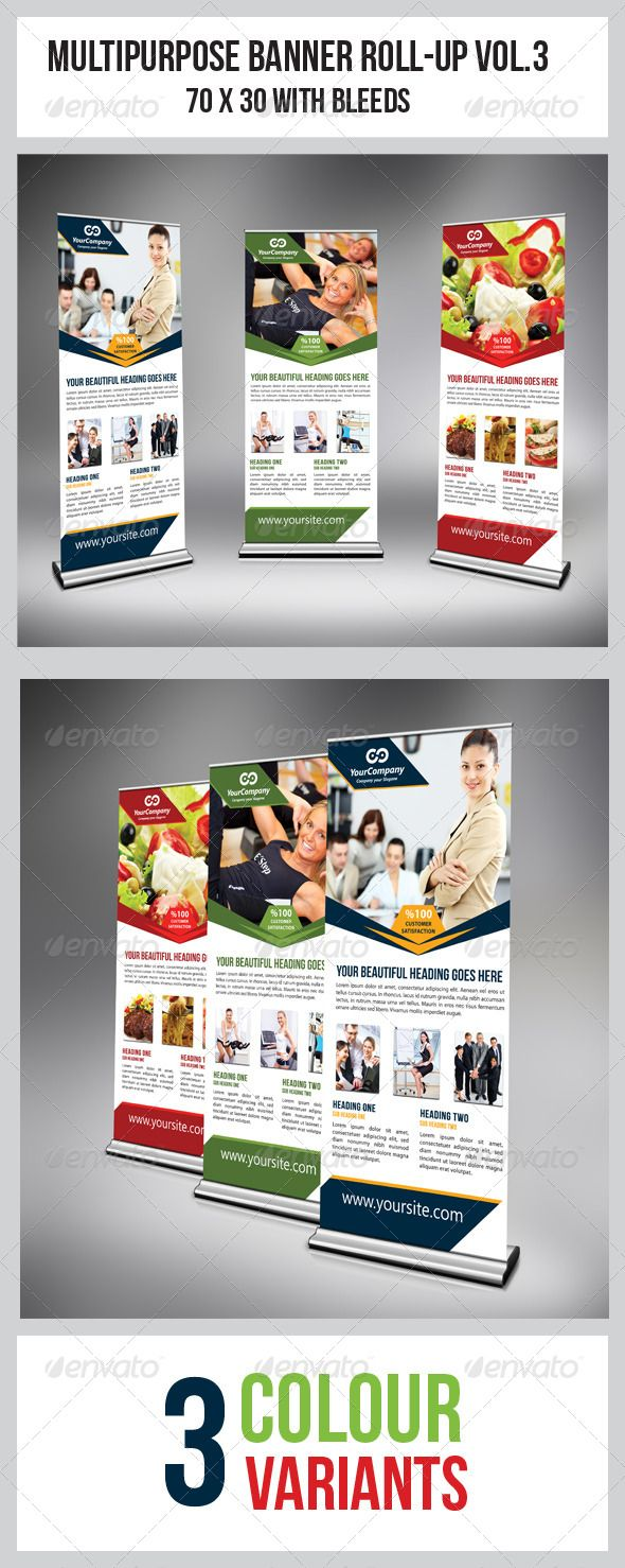 """Multipurpose Business Roll-Up  #GraphicRiver         This simple and generic Roll-Up template perfectly use for multipurpose Business Roll-Up. Easily edit to fit your needs.    Colour : CMYK Files : .psd Size : 70"""" x 30"""" / 150dpi Fully layered Smart object layer to edit images images used are not included. help.txt included for fonts and images used details     Created: 17April13 GraphicsFilesIncluded: PhotoshopPSD Layered: Yes MinimumAdobeCSVersion: CS4 Tags: brand #building #business…"""