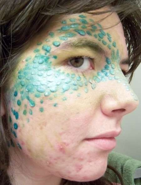 Using Liquid Latex To Create A Scaly Effect Costuming Dragon