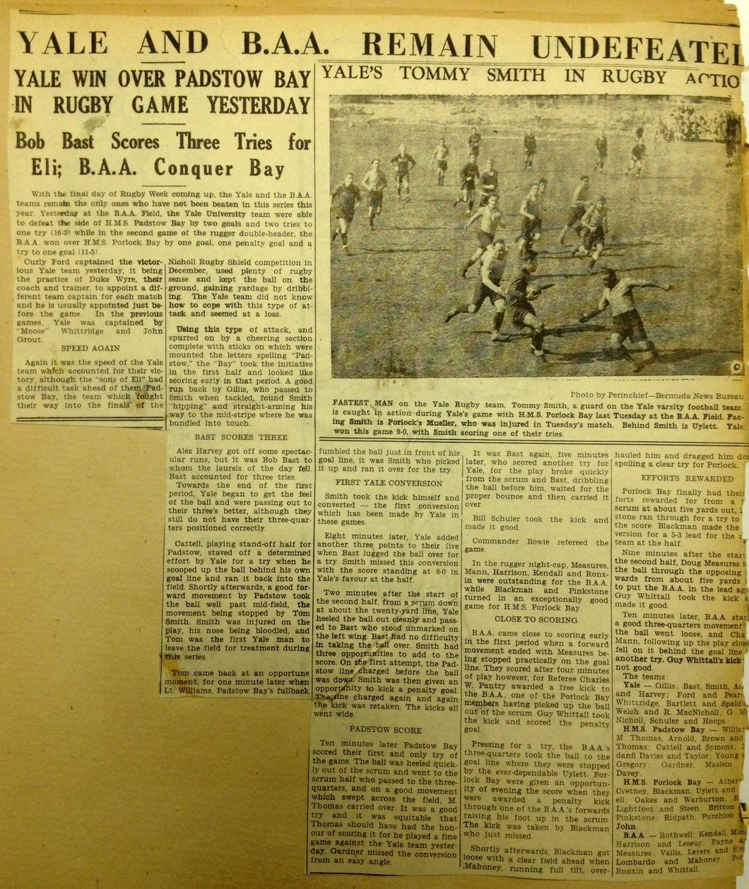 From The Scrapbook Of Alexander Harvey Ii Yale 47 Retired Federal Judge And Rugger Yale Rugby Games Elis