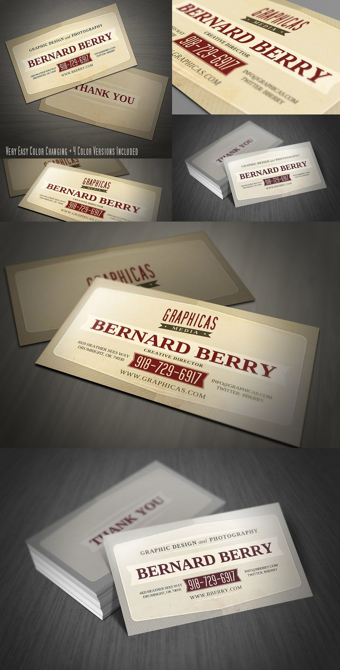 Retro business card template psd business card templates retro business card template psd flashek Gallery