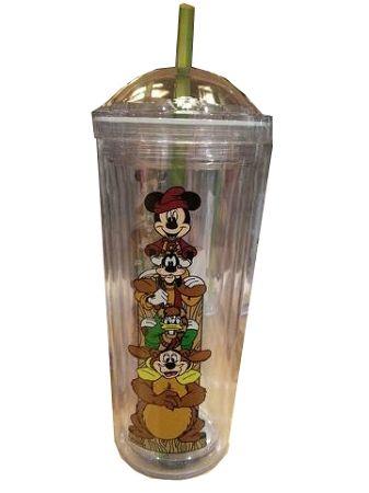 Disney Tumbler with Straw - Wilderness Lodge Resort - Mickey & Friends