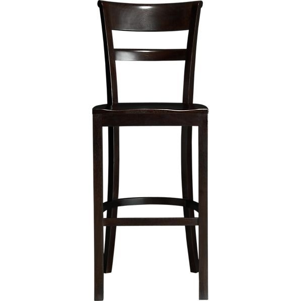 Kipling Mahogany 30 Barstool In Barstools Crate And Barrel