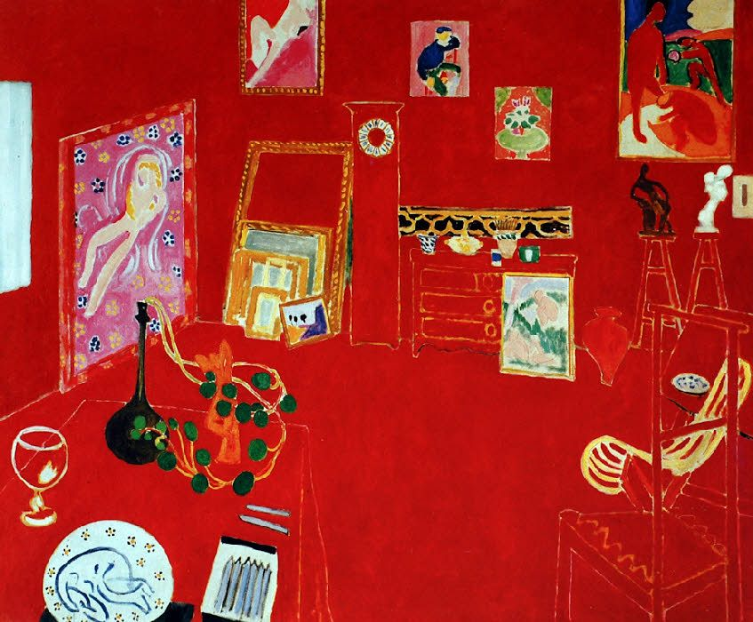 L 39 atelier rouge henri matisse 1911 oil on canvas 181 x for Matisse fenetre ouverte collioure