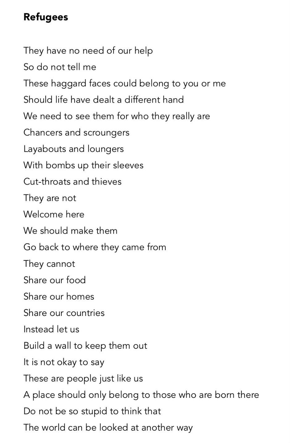 This dark poem about refugees has a beautiful hidden twist ...