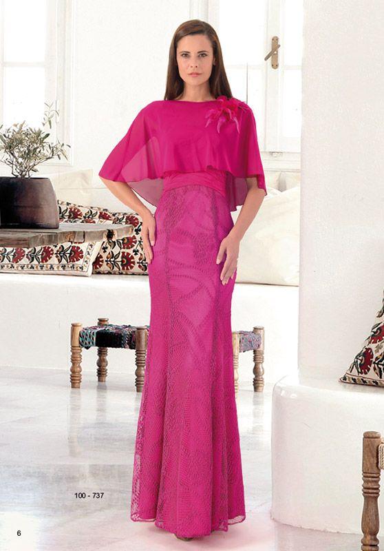 Vestido largo con capa gasa | Moda | Pinterest