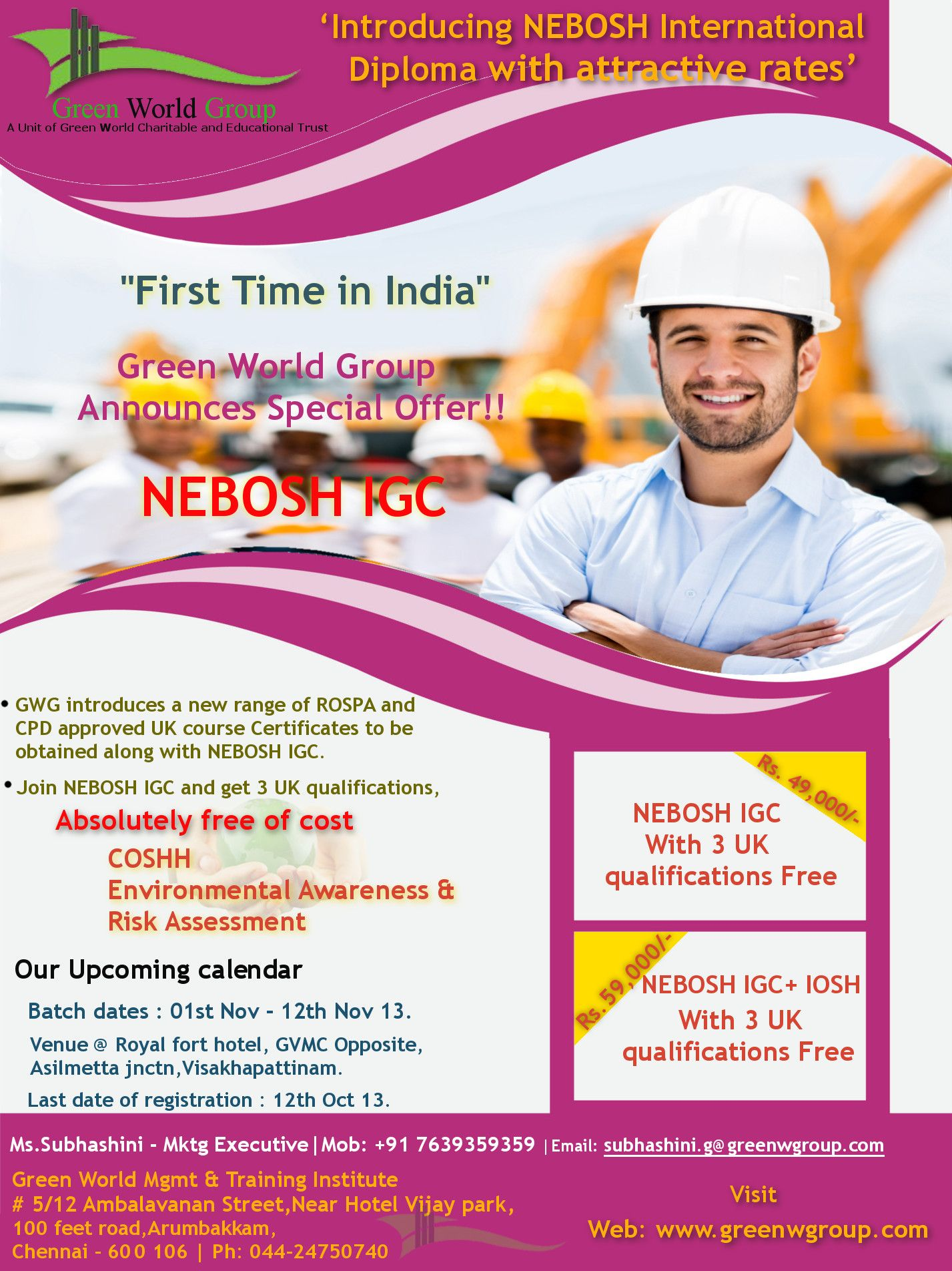 Excellent Offer For Nebosh Igc Course With 3 Special Uk Valued