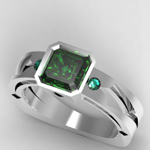 CAD Designed Ring, can be made with any color stones and any color metal.