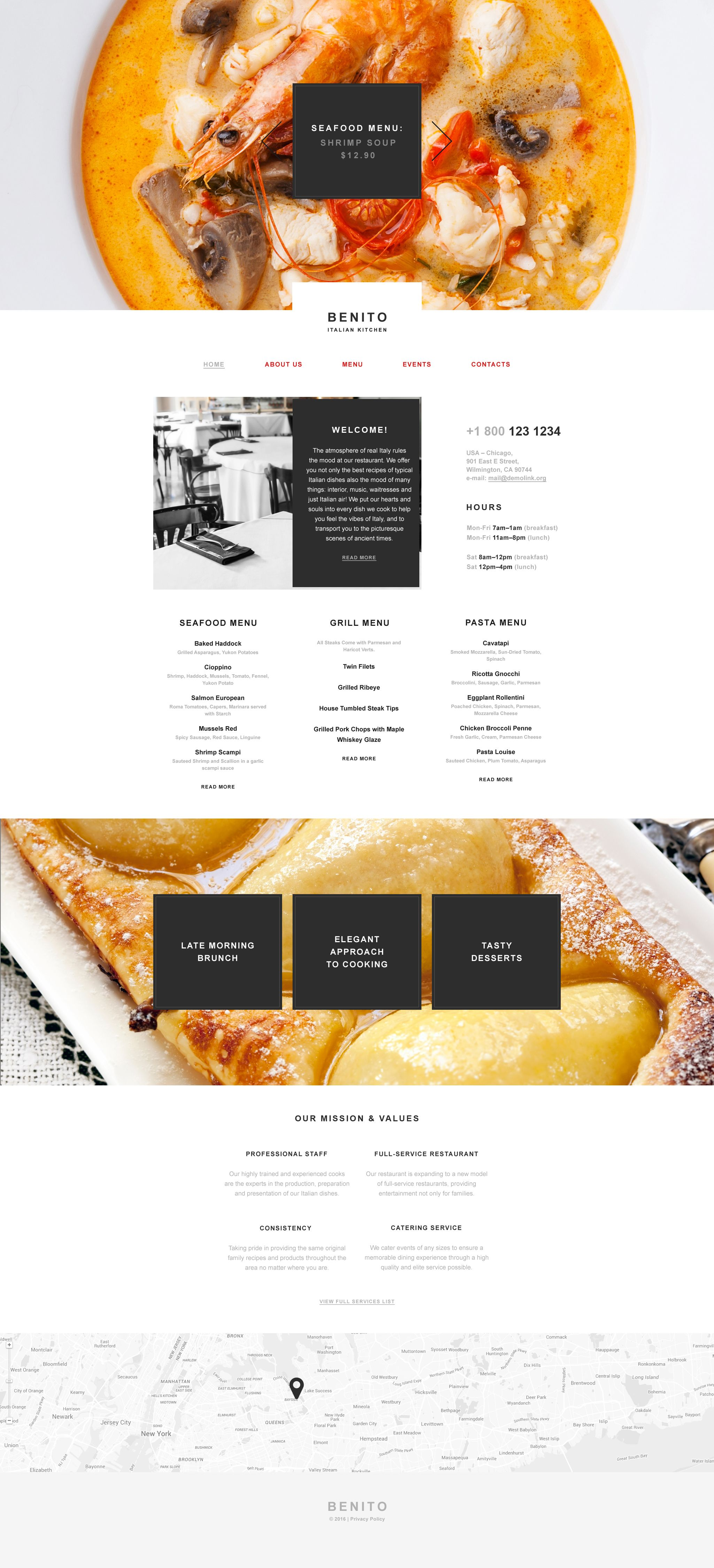 BENITO Muse Template New Website Templates Pinterest