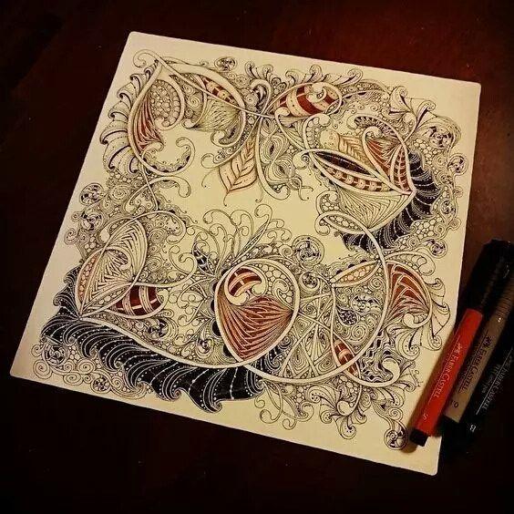 Декоративные переплетения,линии чертежа