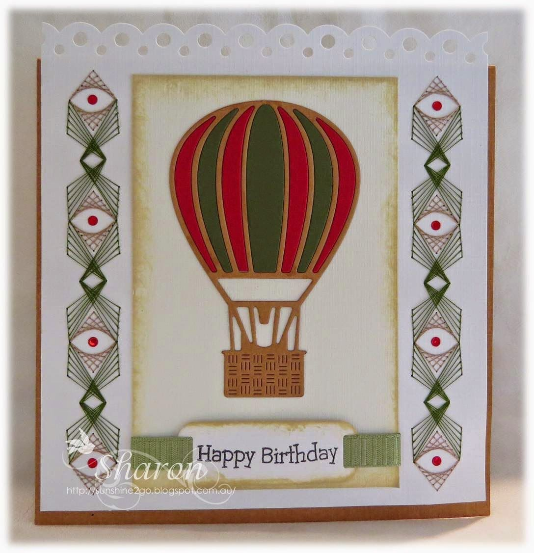 Birthday Card Pattern By Ann S Paper Art A354 Hot Air Balloon By