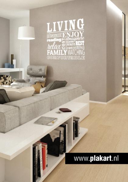 Ontwerp muursticker | muurtekst Living woonkamer | redo study ...