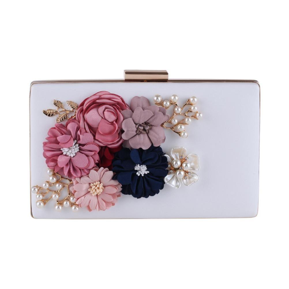 38a1bad1ad0c Milisente Women Flower Clutches Evening Bags Handbags Wedding Clutch ...
