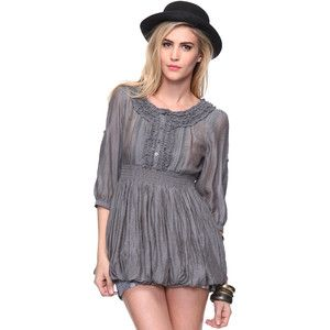 Bubble Hem Tunic forever21