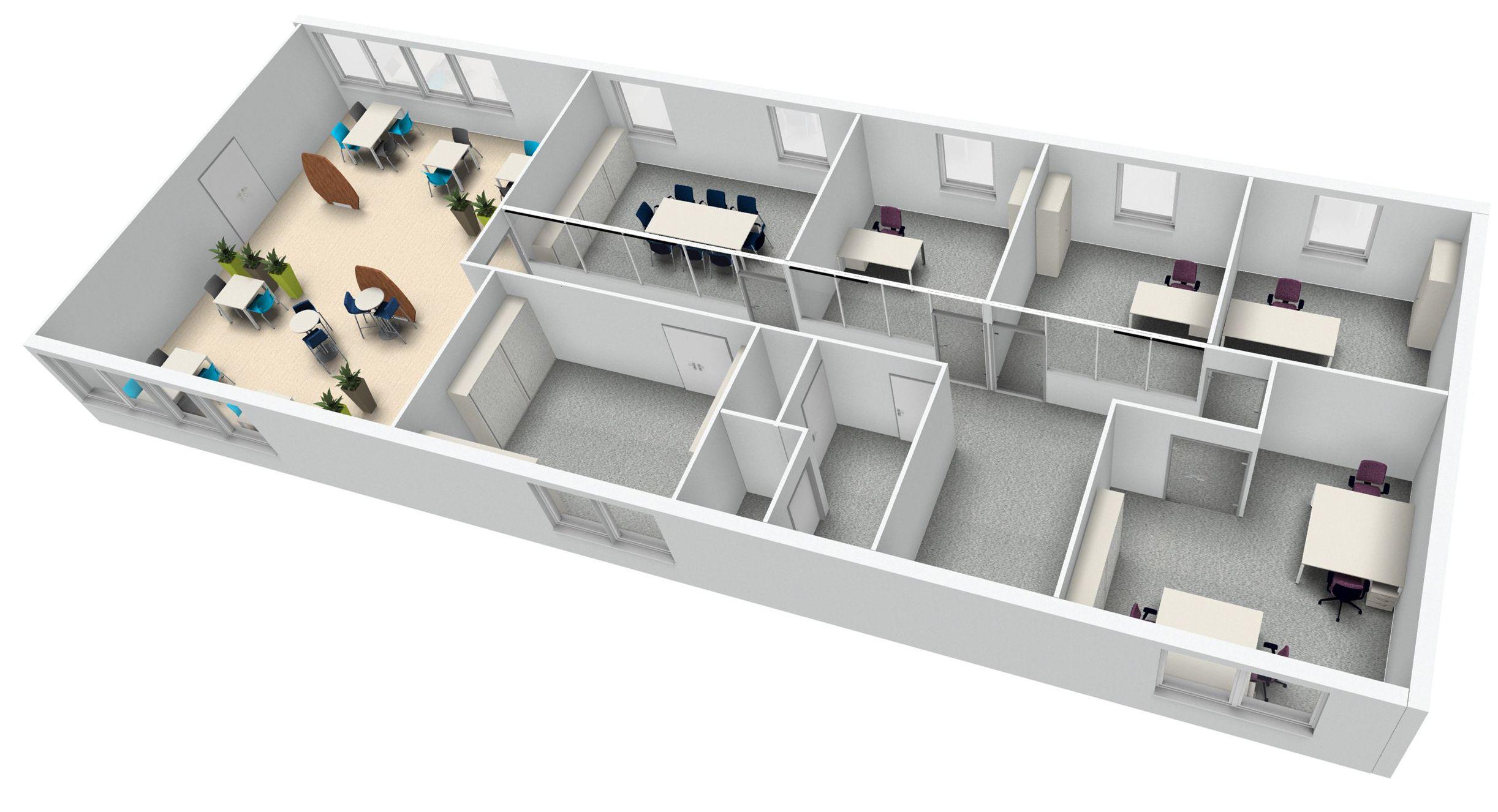 Bureau Plan De Travail aménagement d'un plateau de bureau. espace de travail et