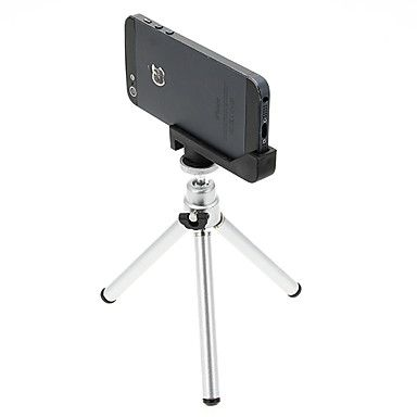 Mini Desktop treppiede in alluminio con doppio ponte tre sezioni && iPhone 5S / 5 Tripod Mount Holder – GBP £ 8.47