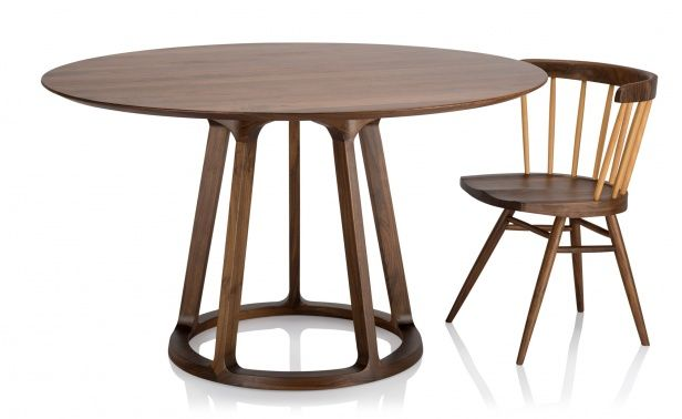 Coco Republic Wright Deco Spindle Base Round Dining Table