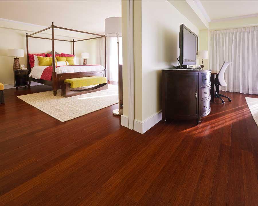 Unique Bamboo Floor In Basement