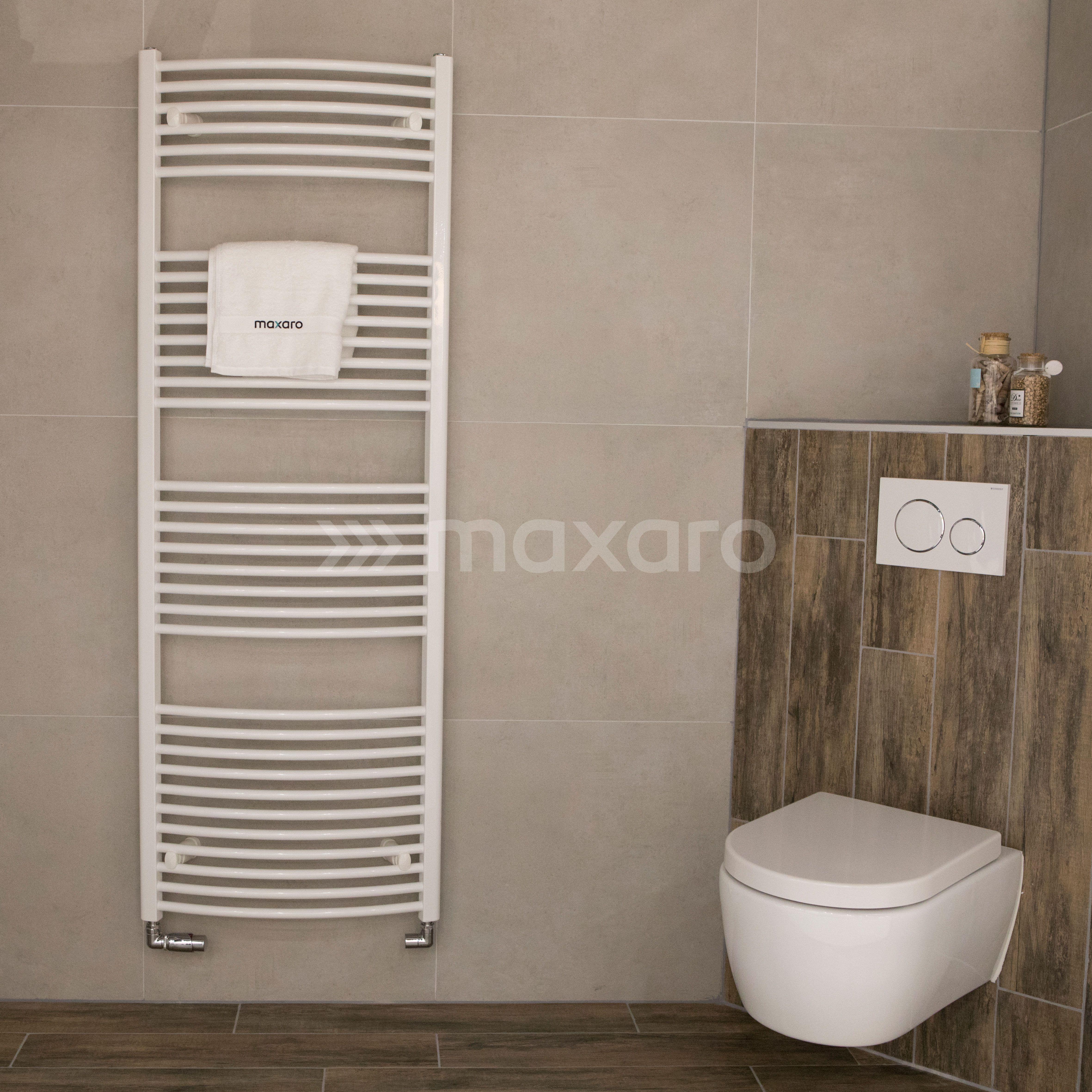 Badkamer ideeën 2018: Design houtlook badkamer met hangend ...