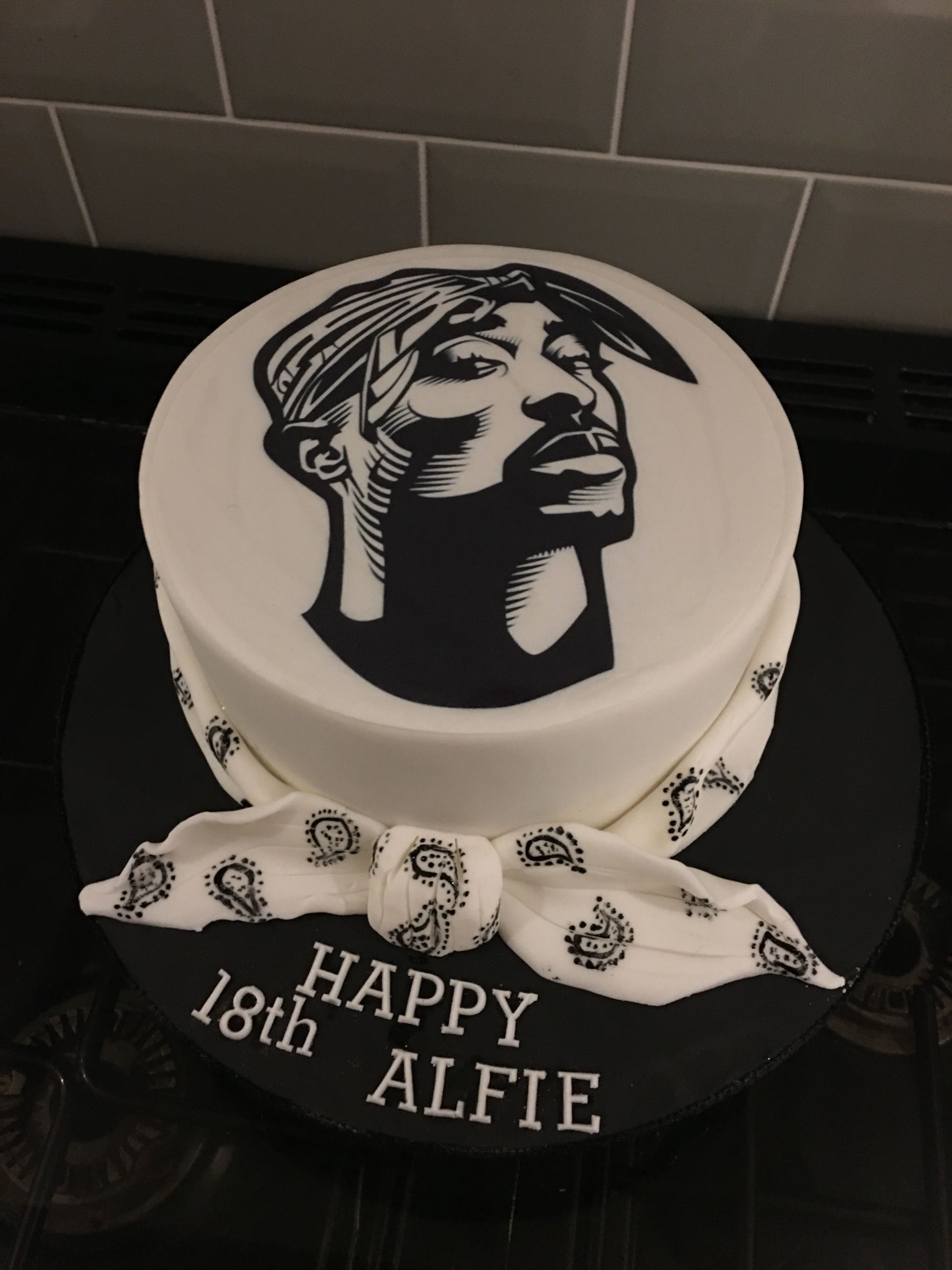 Tupac Cake For An 18th Birthday Pac Pinterest Birthdays Hip