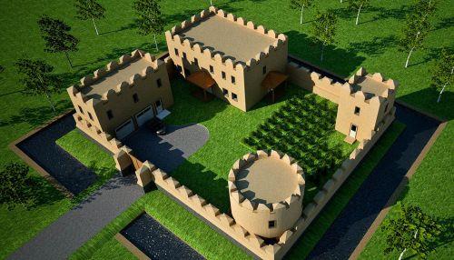 earthbag castle horde building and doors