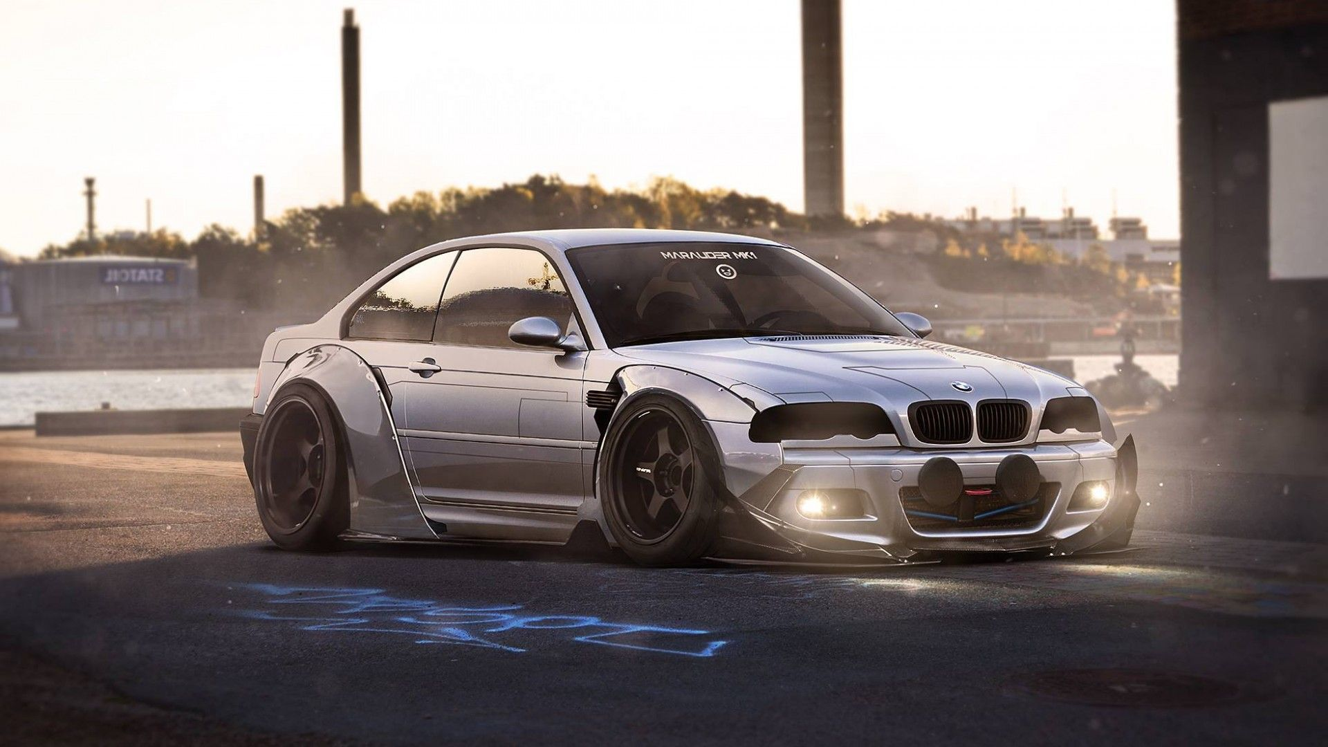 Download Wallpaper Bmw M3 E46 Ligth Body Kit Future Tuning Bmw Resolution 1920x1080