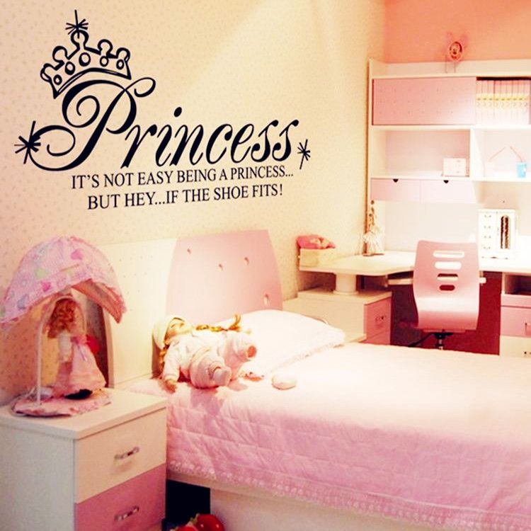 ... Princess Crown Girls Nursery Room Vinyl Wall Decal Large Bedroom Decor  Princess Wall Decorations Bedrooms Amazing.