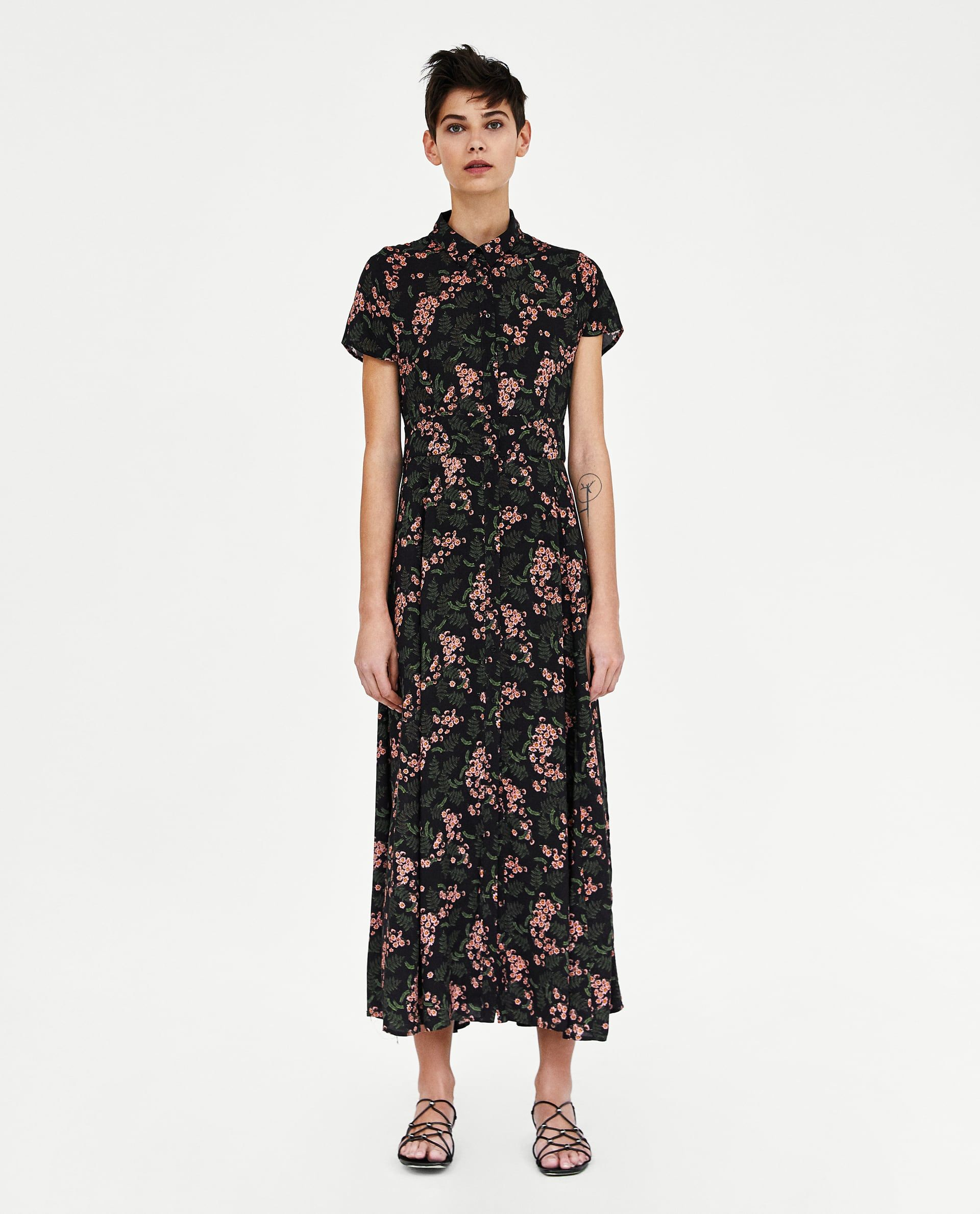 ZARA - WOMAN - LONG FLORAL PRINT DRESS  Lange kleider, Hübsche