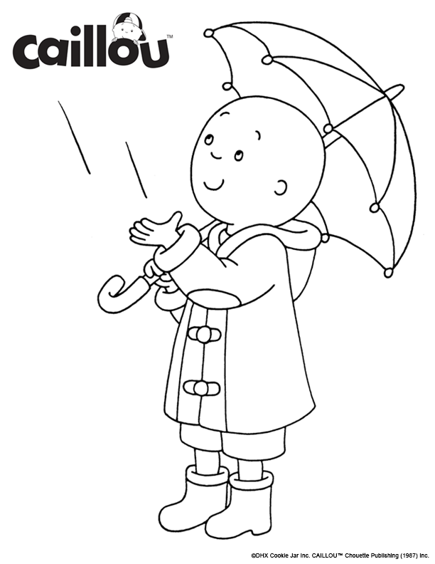 Pin On Caillou Coloring Pages