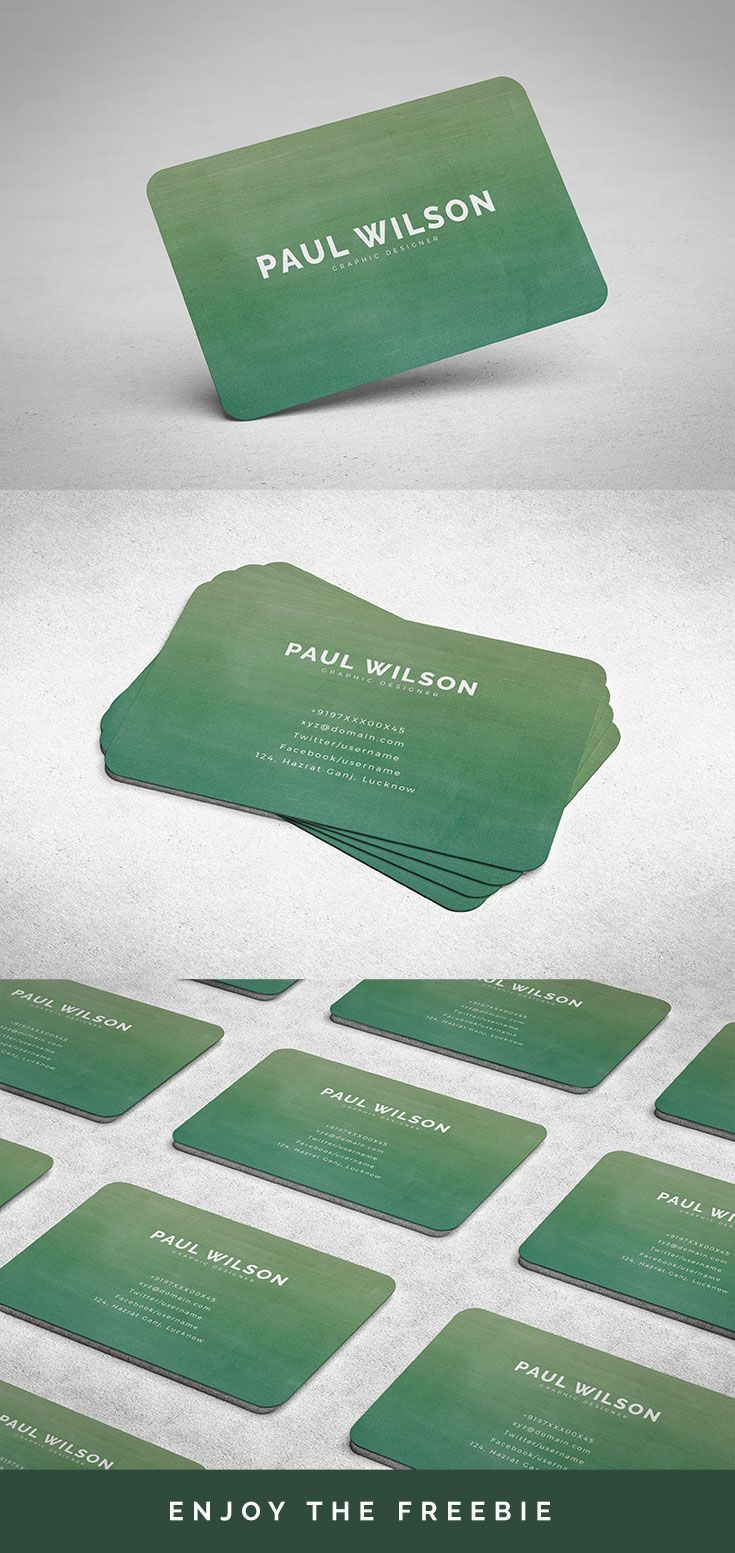 Free Graphic Design Business Card Personal Identity Business