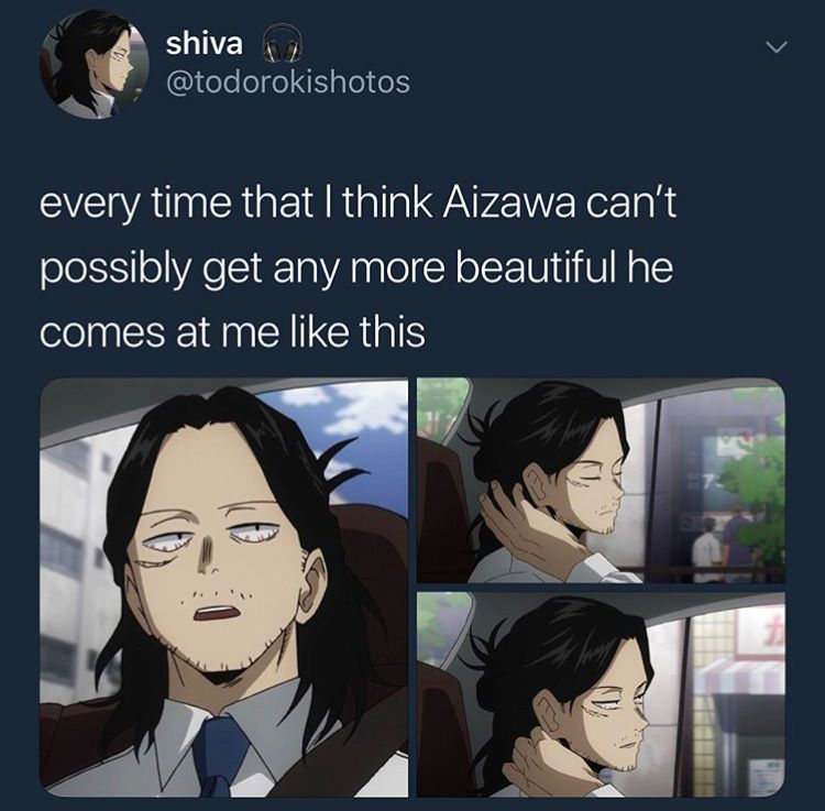 Photo of -Every time I think Aizawa can't look better, he comes to me from …