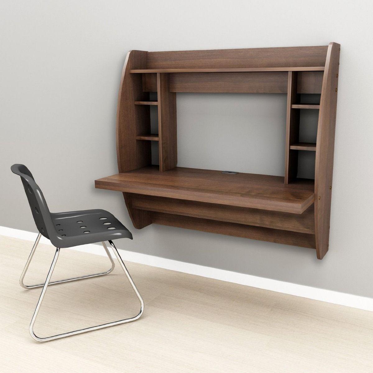 Escritorio flotante cafe ideas escritorios escritorio for Muebles para computador